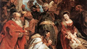Peter Paul Rubens painted with blood