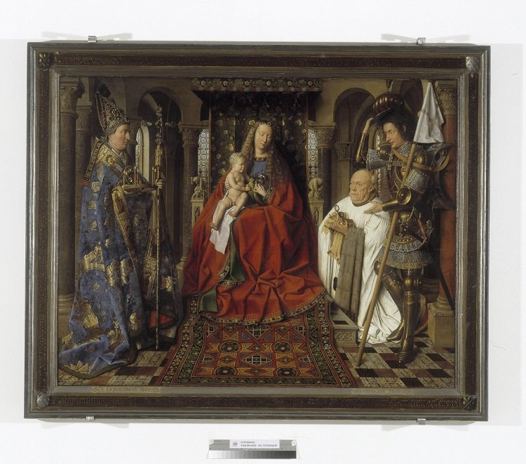 Jan Van Eyck, Madonna with Joris van der Paele