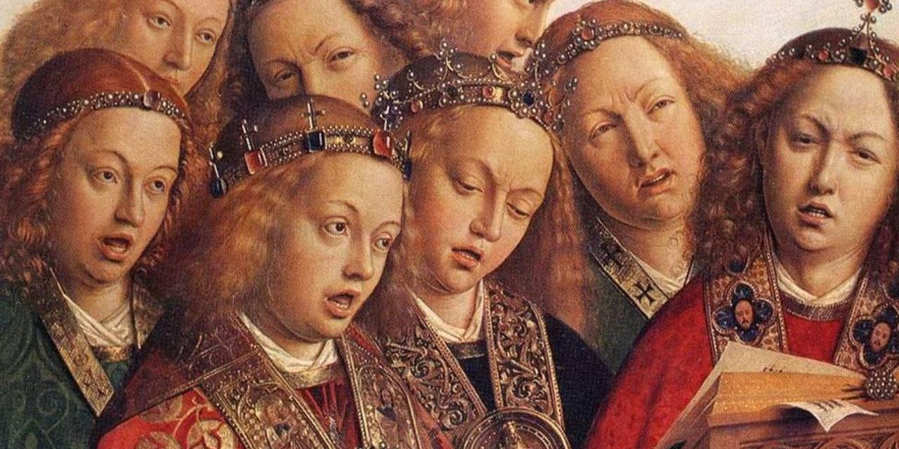 The Ghent Altarpiece / The Adoration of the Sacred Lamb (Angels singing)
