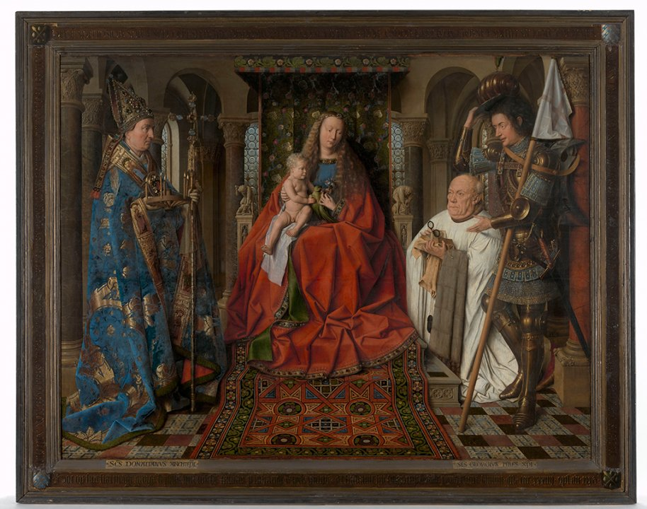 The Virgin and Child with Canon Joris Van der Paele Museum Brugge-Groeningemuseum (c)www